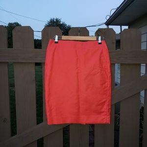 J Crew Coral Pencil Skirt Size 4 No. 2 Pencil